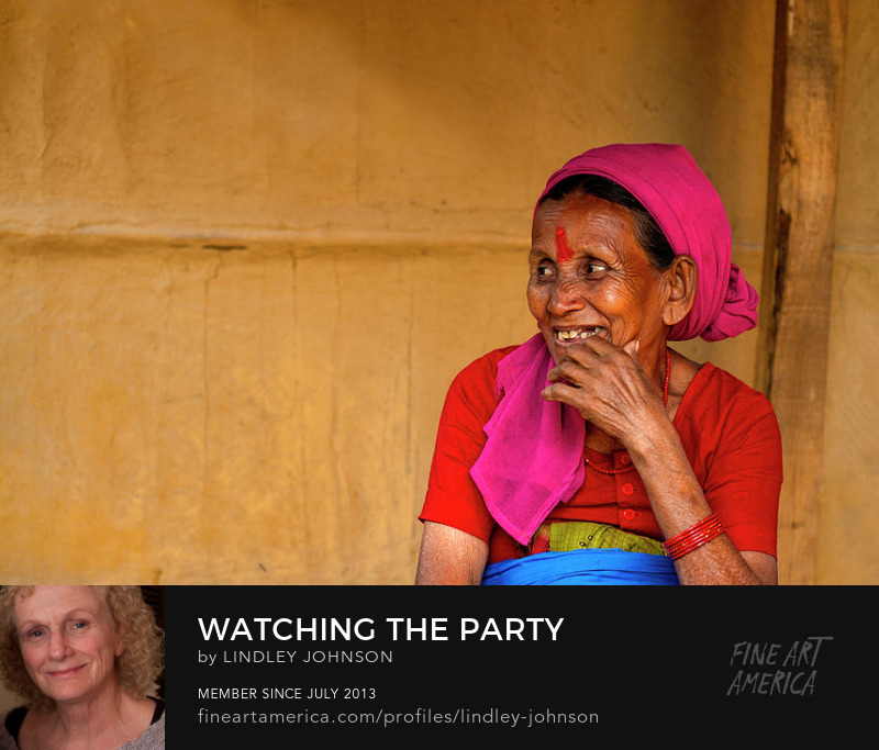 Watching the Party in Nepal by Lindley Johnson