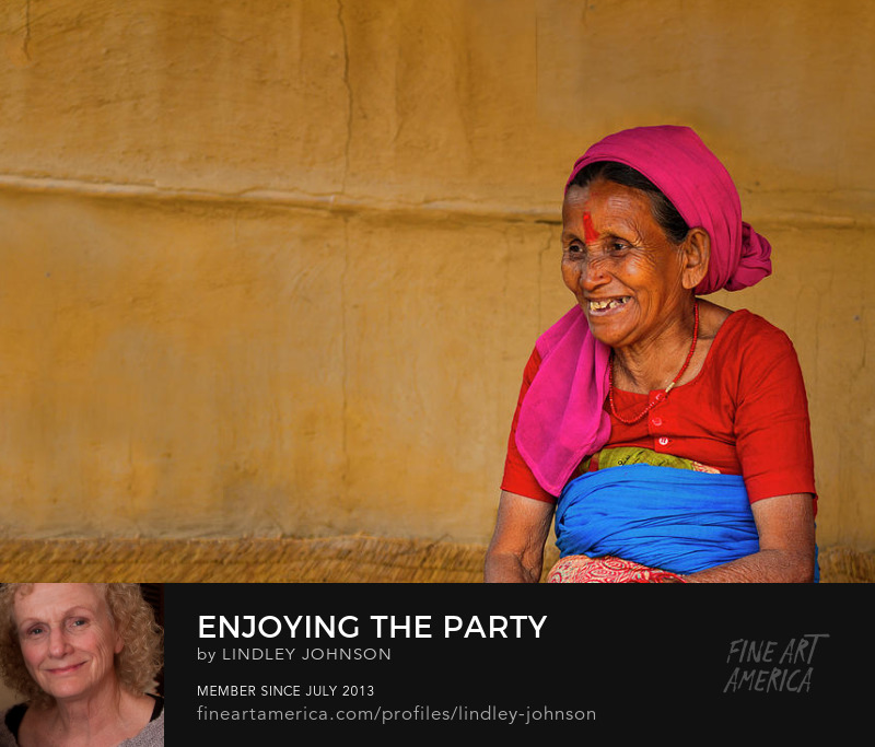 Enjoying the Party in Nepal by Lindley Johnson