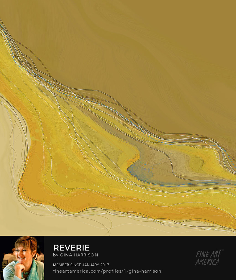 Reverie abstract print by Gina Harrison