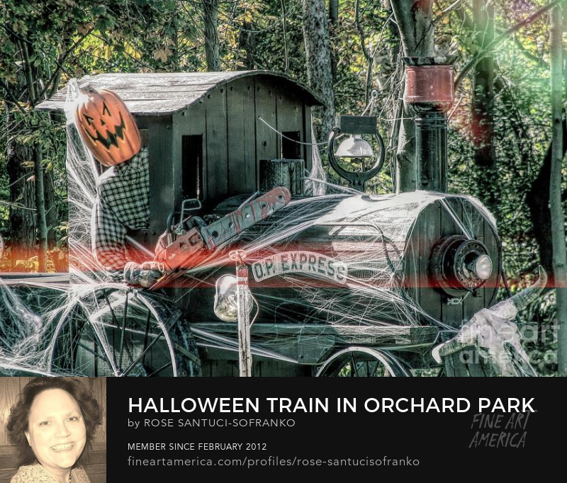 Halloween Train In Orchard Park Ny With Grunge Light Effect