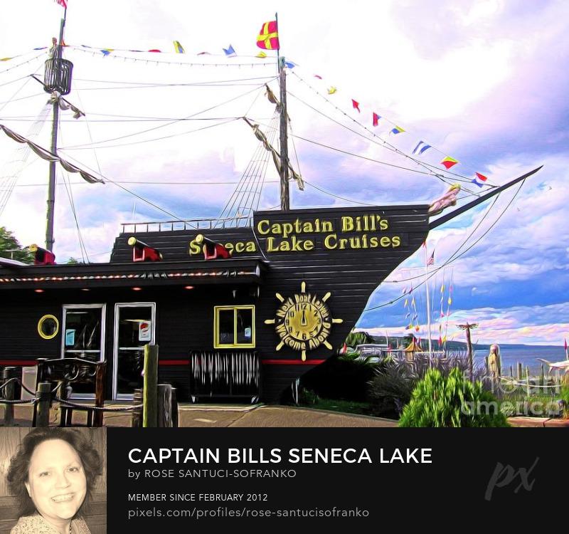 Various Flags at Captain Bills Seneca Lake In New York Slight Abstract Effect Art Prints