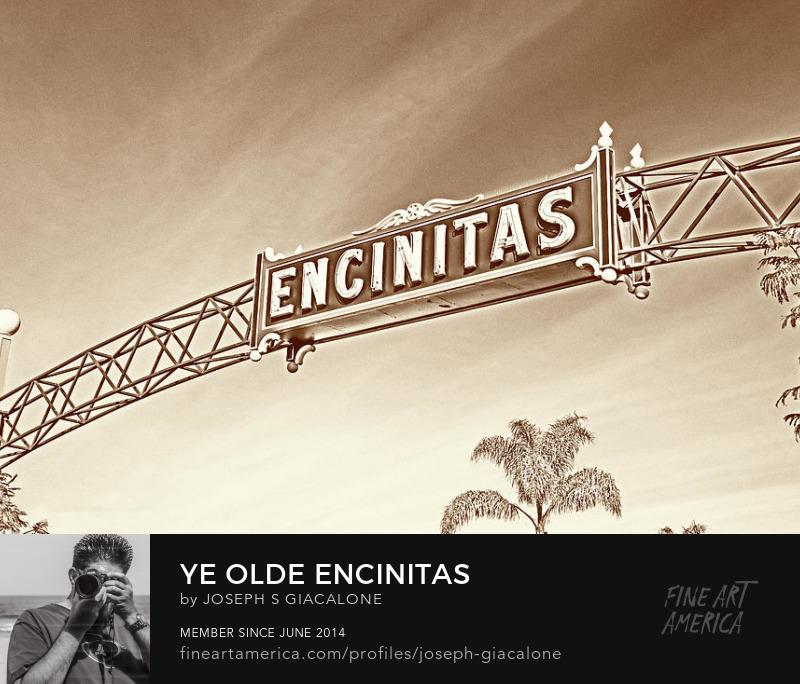 Encinitas Sign Marquee Vintage Buy Art