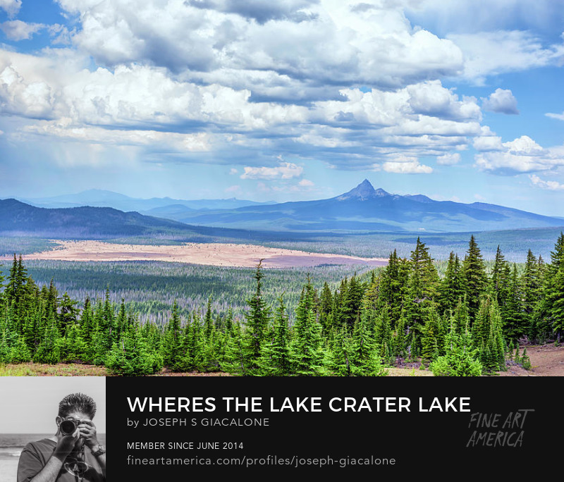 Crater Lake Nature Landscape Art