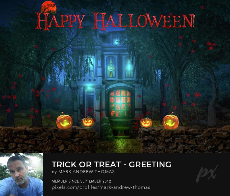 halloween house art prints
