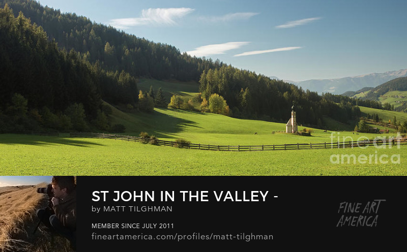 St John Dolomites Church Art Prints