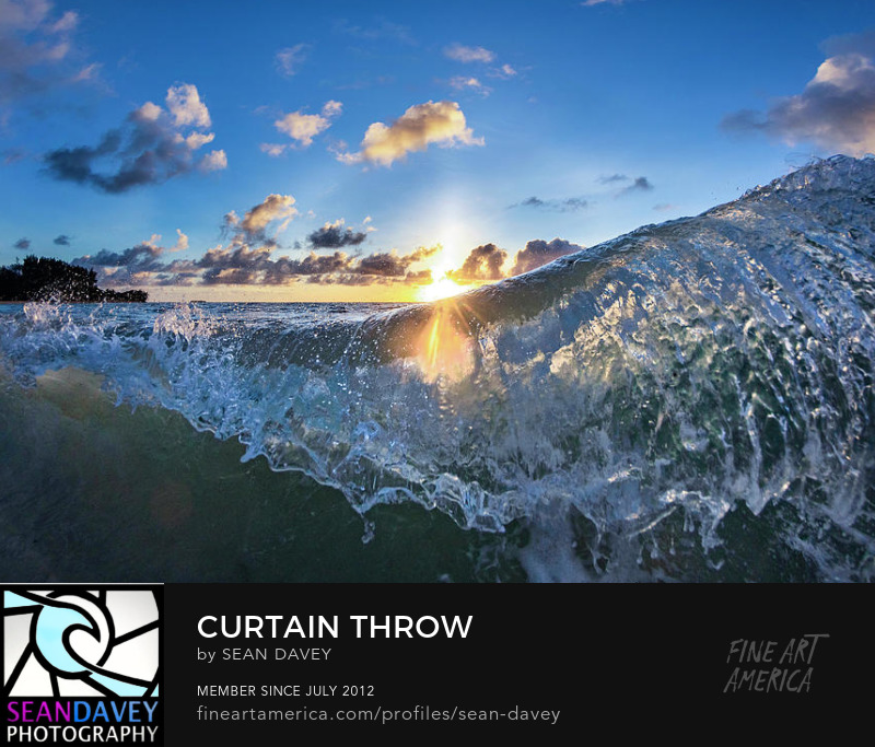 Surf photography and wave prints for sale by Sean Davey