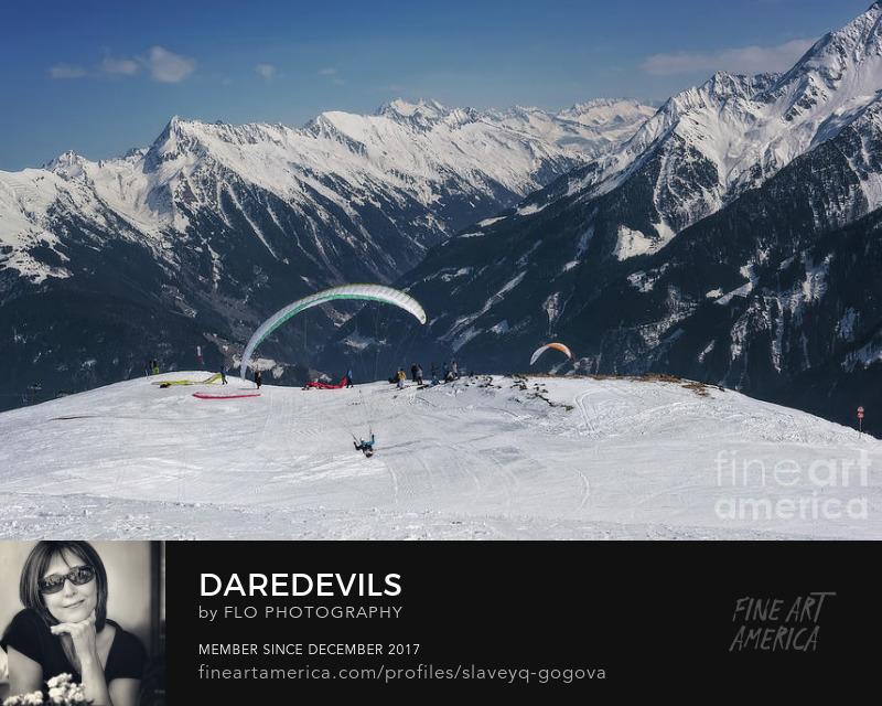 Mayrhofen Austria Paragliding Flo Photography Art Prints