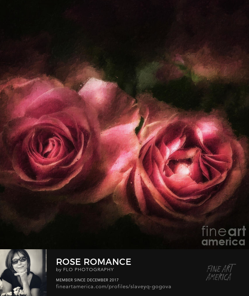 roses romance vintage Flo Photography Art Prints