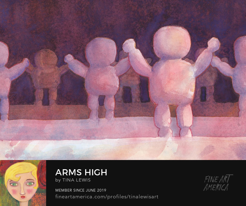 Arms High, Original Watercolour Painting