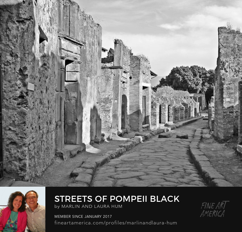 Streets of Pompeii Black and White Marlin and Laura Hum
