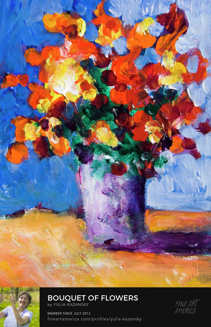Bouquet of flowers by Yulia Kazansky