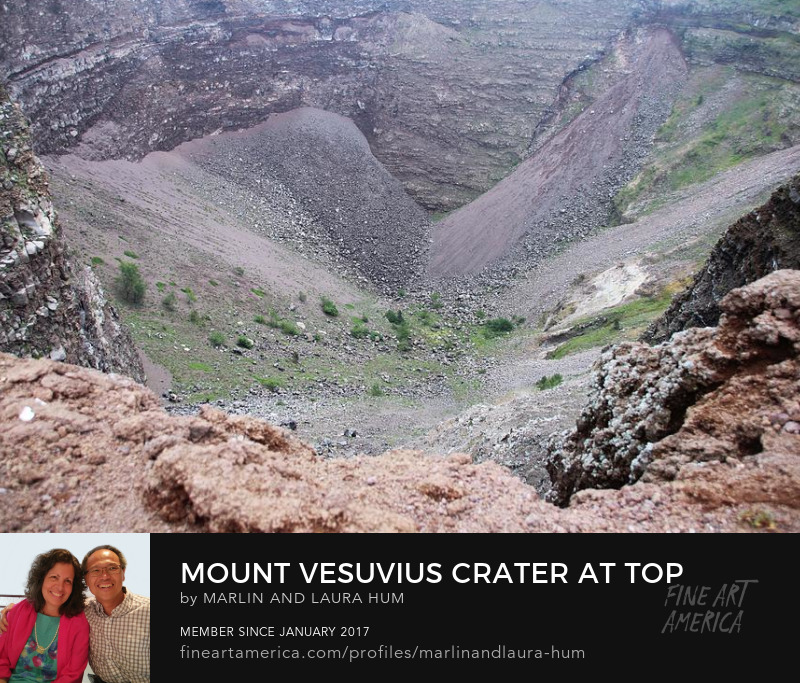 Mount Vesuvius Crater at Top by Marlin and Laura Hum