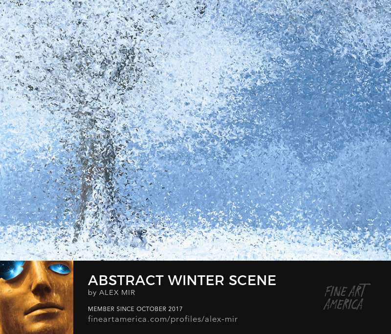 Buy Abstract Winter Art