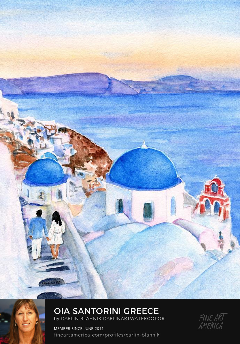Greek Landscape Art Print by Carlin Blahnik