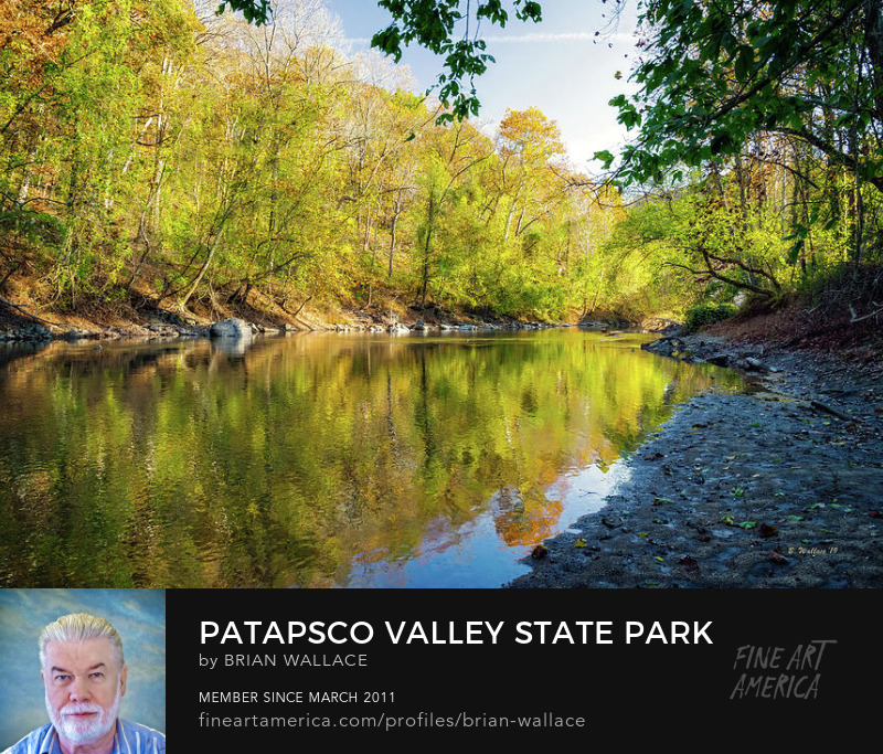 Patapsco Valley State Park Autumn Reflections by Brian Wallace