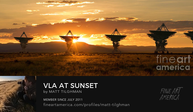 Very Large Array Sunset Photography Prints