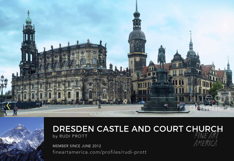 Dresden Castle and Court Church by Rudi Prott