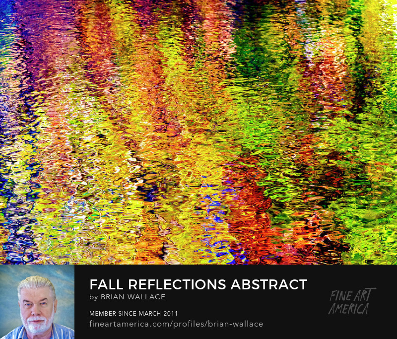 Fall Reflections Abstract by Brian Wallace