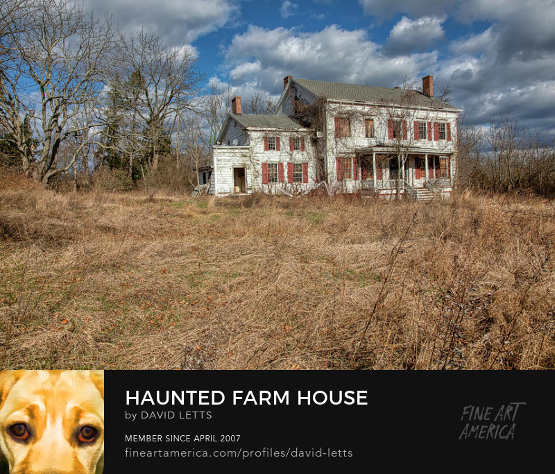 Haunted Farm House Fine Art Print for Sale by David Letts