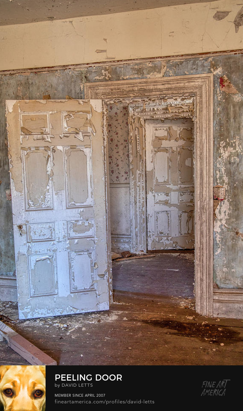Haunted White Door Fine Art Print for Sale by David Letts