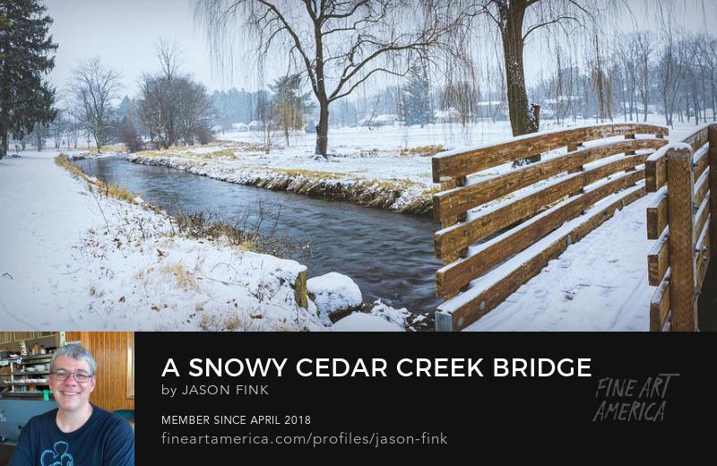 Allentown Snow storm cedar creek park