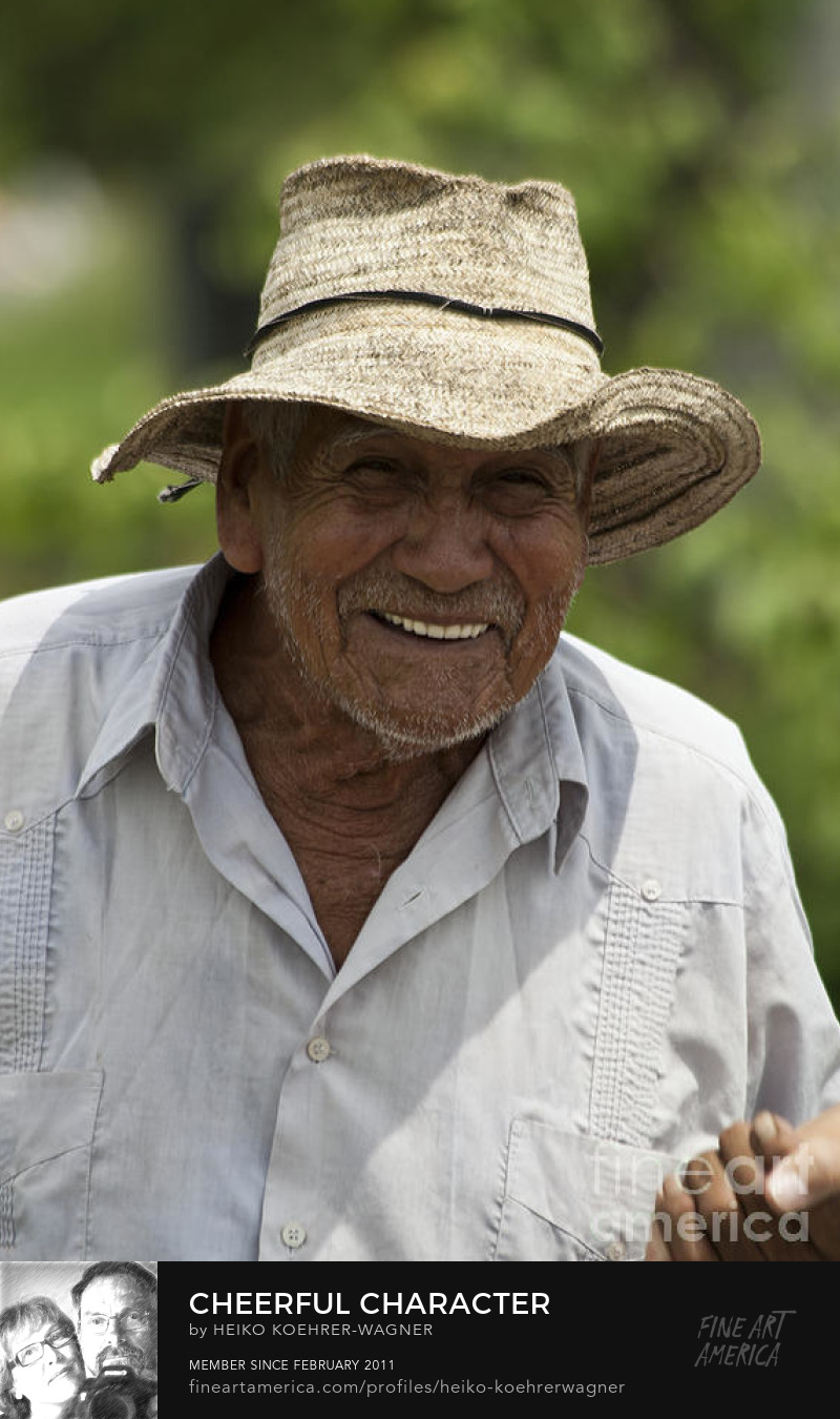 Portrait of a handsome, smiling Latin American farmer, a cheerful character prints for sale