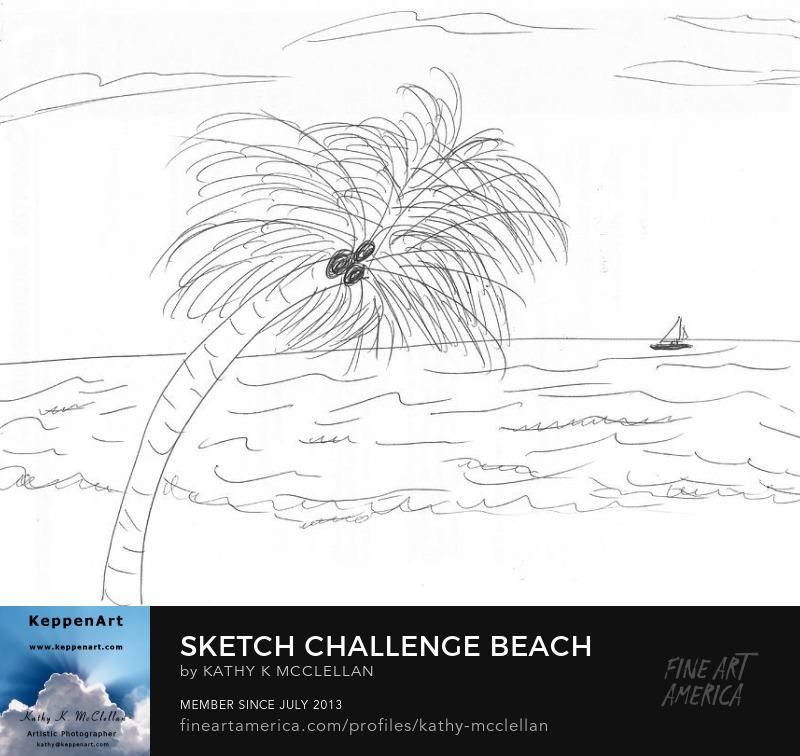 Sketch Challenge Beach by Kathy K. McClellan