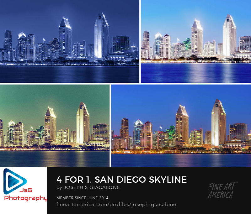 San Diego Skyline Art Prints