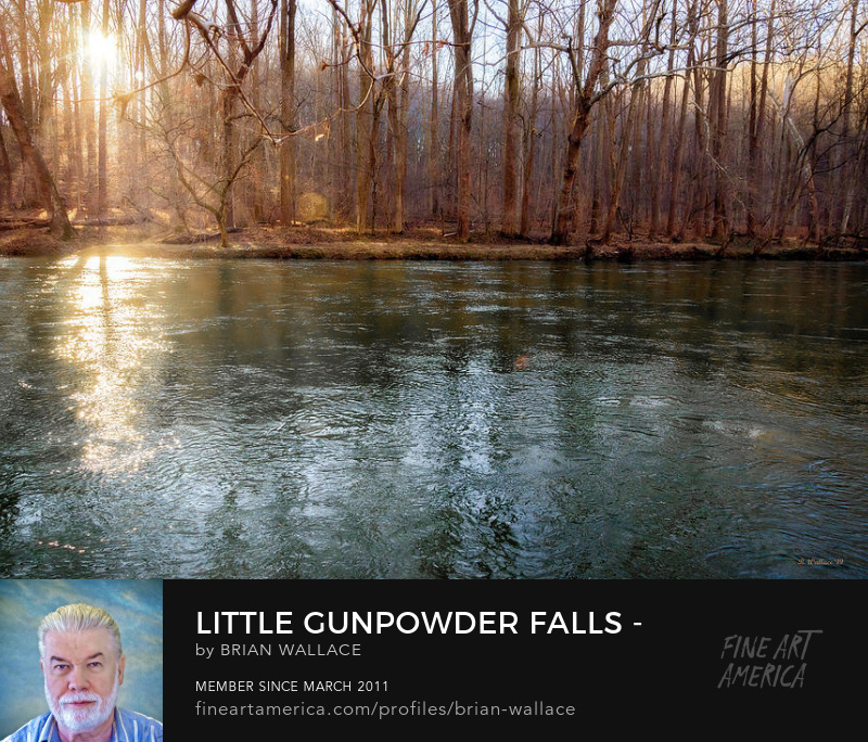 Little Gunpowder Falls Sunbeams by Brian Wallace