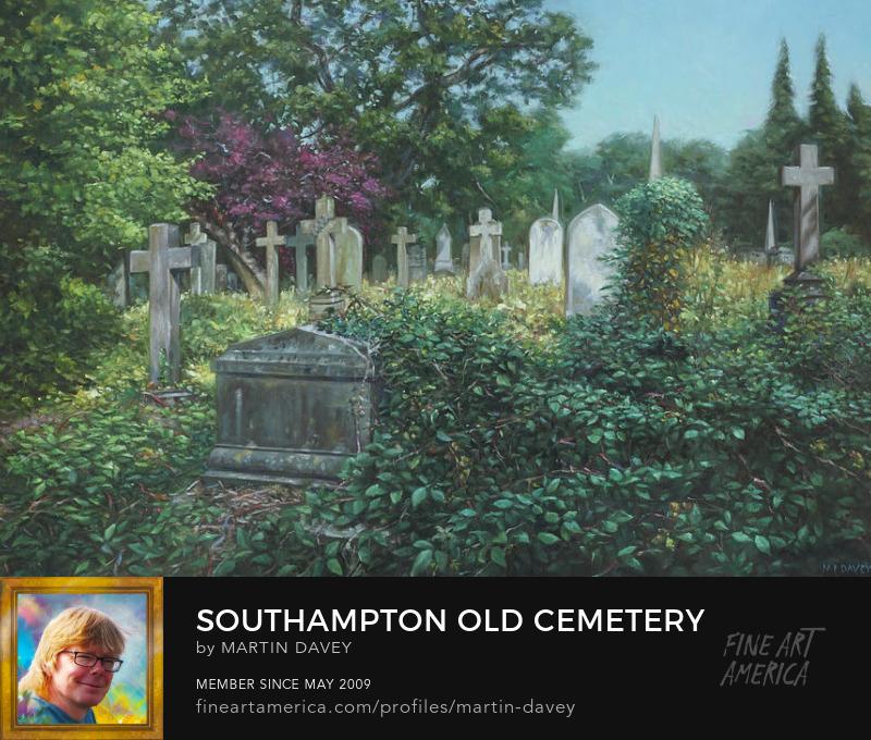 overgrown Victorian cemetery art