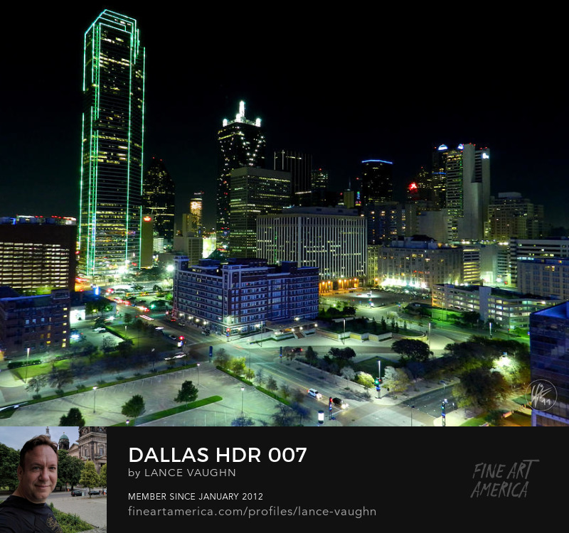 Dallas Texas night cityscape photograph by Lance Vaughn