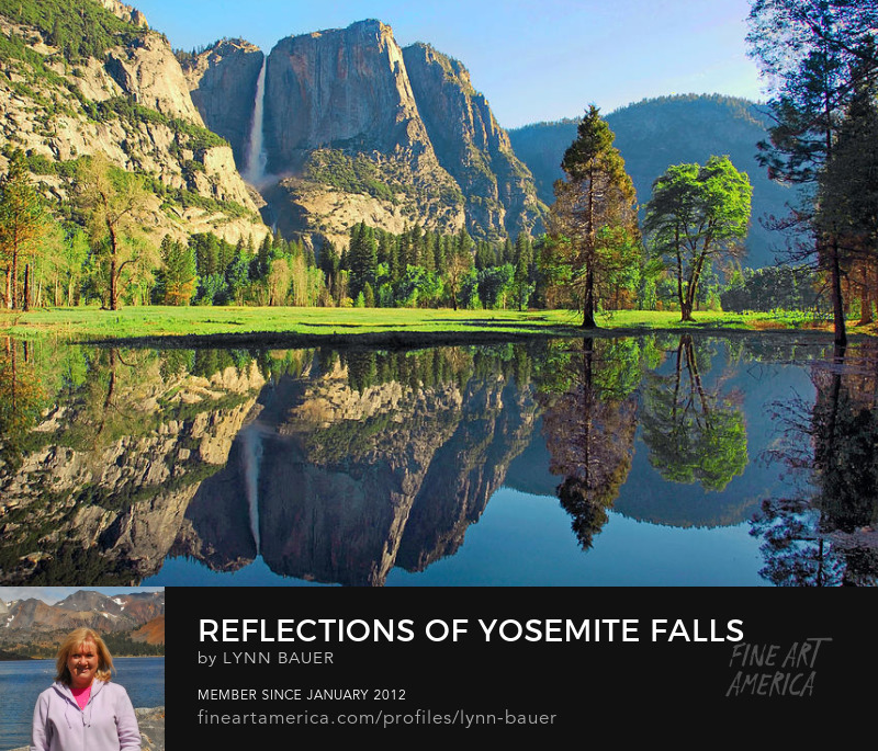 Yosemite National Park Merced River Waterfall Reflections by Lynn Bauer