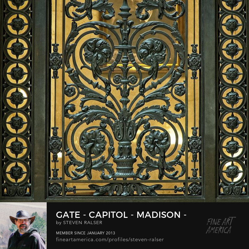 Gate detail, Capitol, Madison, Wisconsin