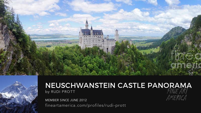 Neuschwanstein castle by Rudi Prott