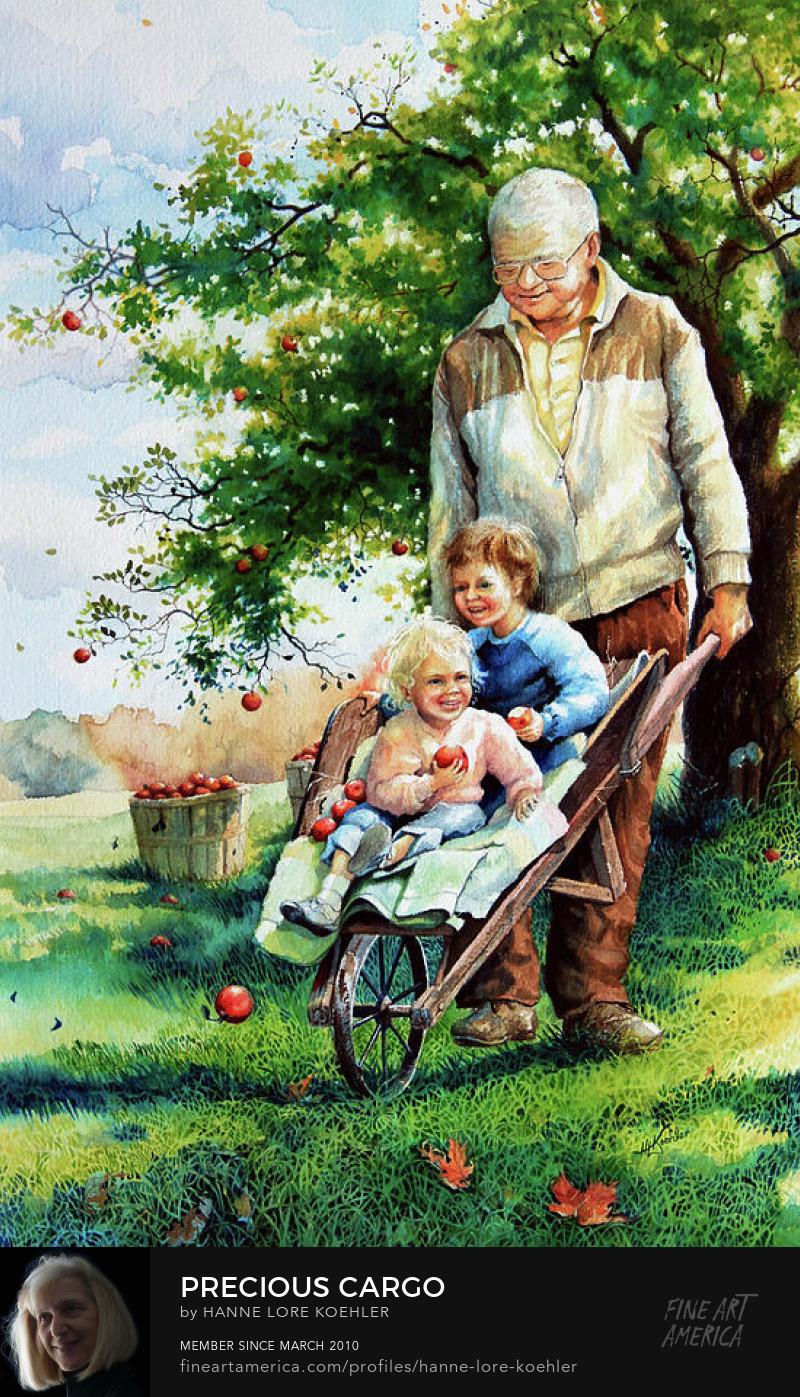 painted family portrait