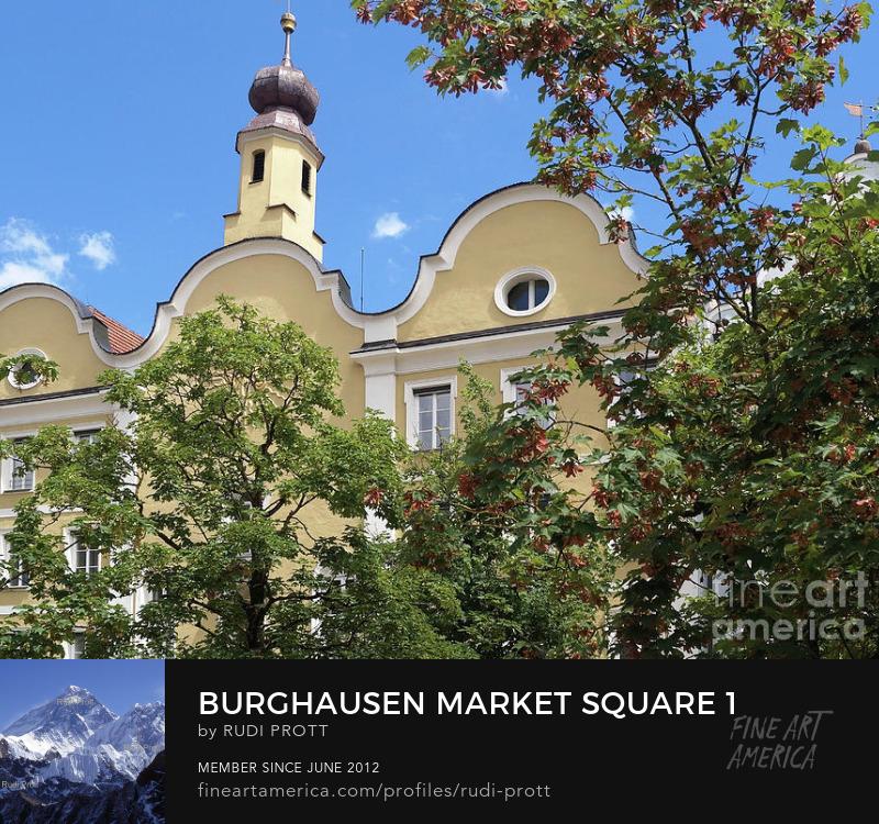 Burghausen Bavaria Market Square by Rudi Prott