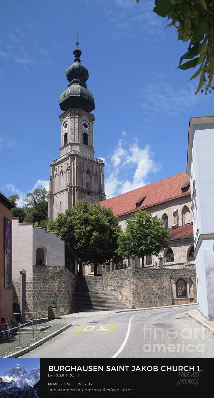 Burghausen Bavaria Saint Jakob Church by Rudi Prott