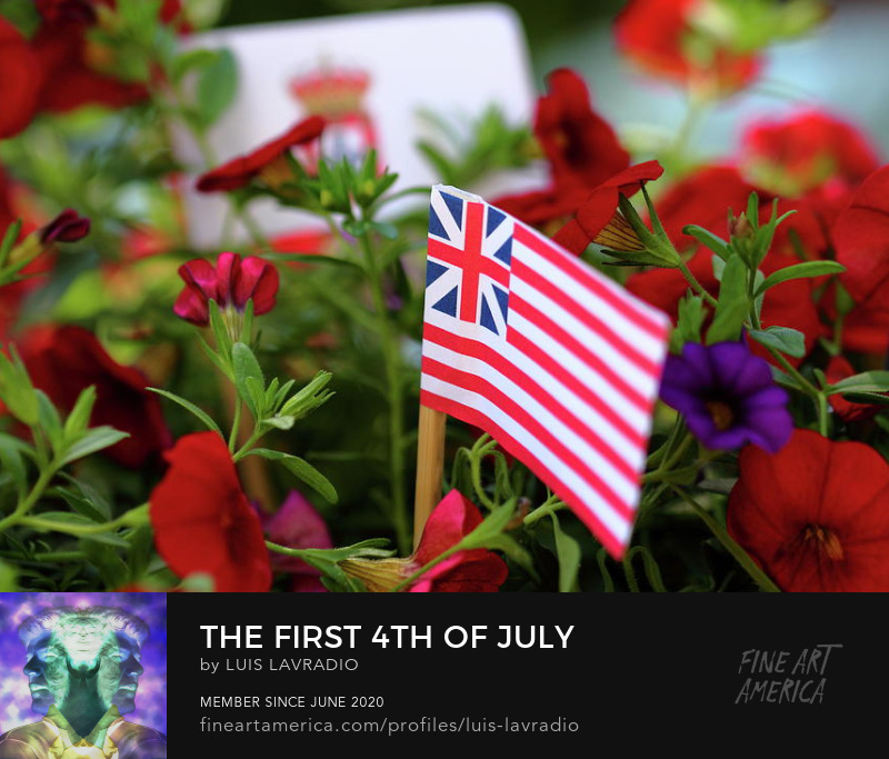 the first flag o fthe USA by Luis Lavradio