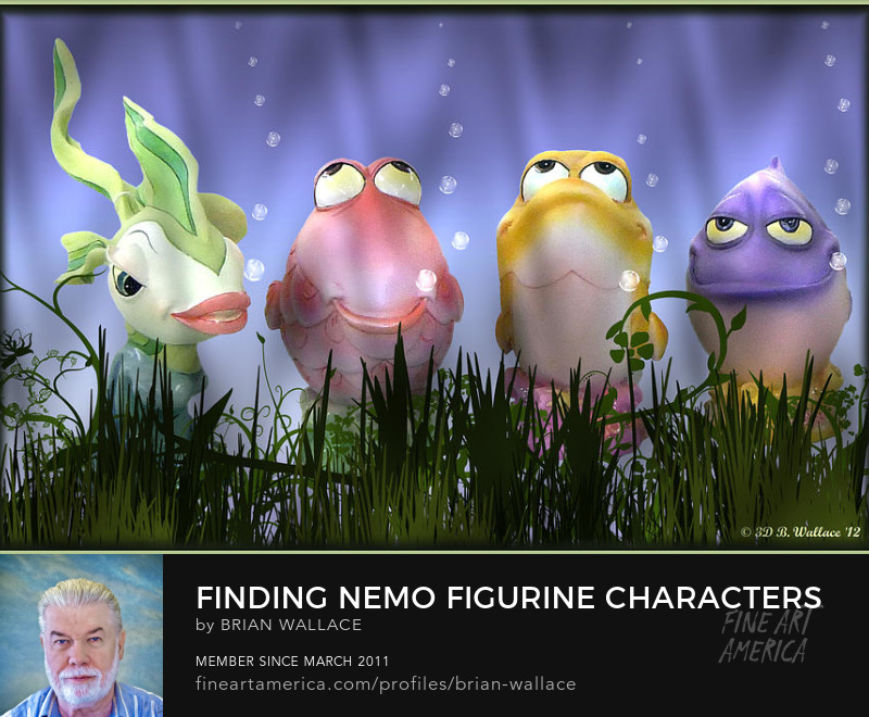 Finding Nemo Figurine Characters by Brian Wallace