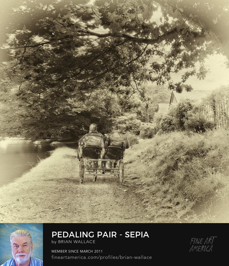 Pedaling Pair - Sepia by Brian Wallace