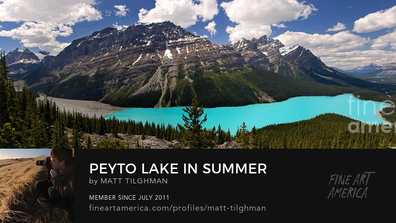 Peyto Lake Panorama Photography Prints