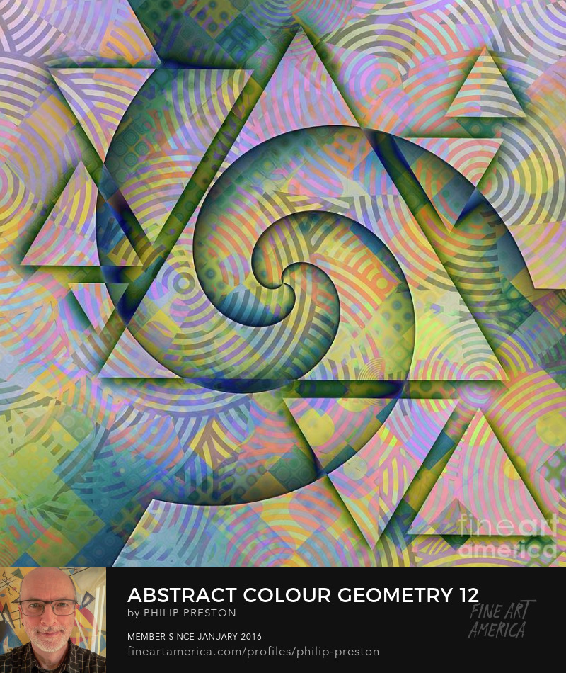 Abstract colour geometry - Philip Preston
