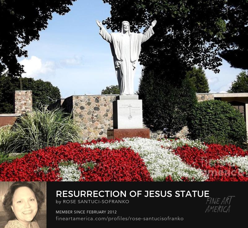 Resurrection Of Jesus Statue Photography Prints