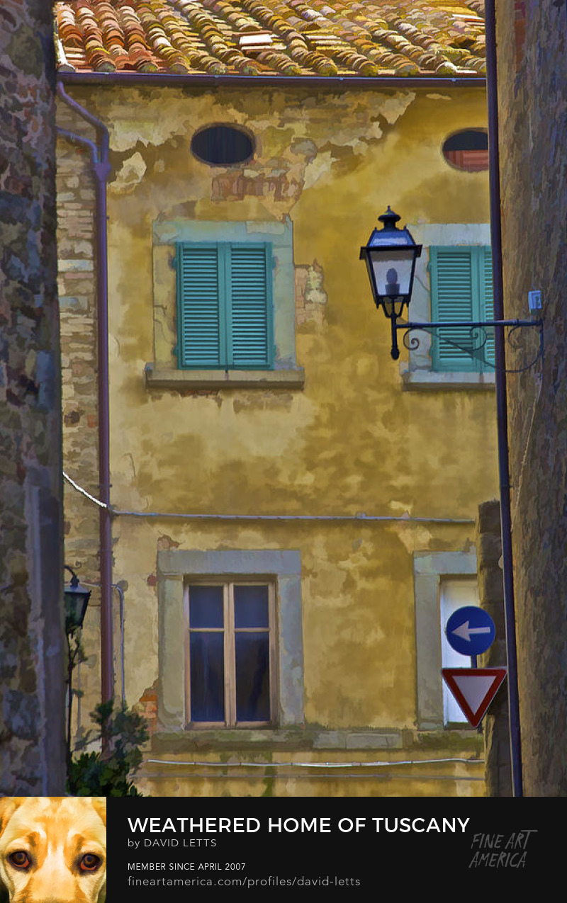 Village of Cortona of Medieval Tuscany photograph for sale by David Letts