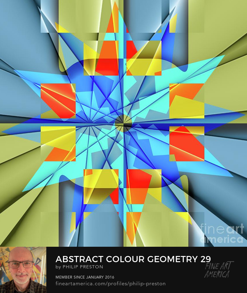 Abstract colour geometry for modern contemporary decor - Philip Preston