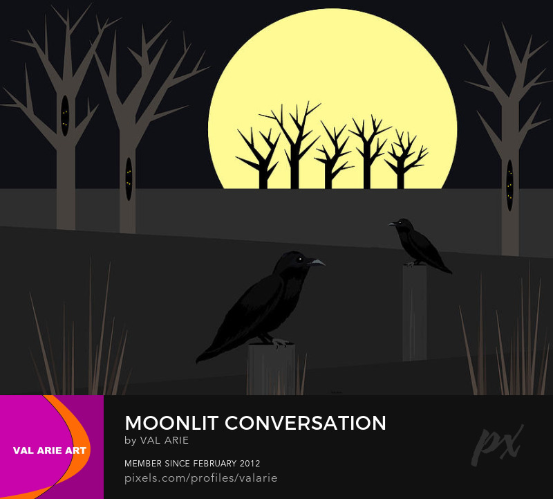 Moonlit Conversation by Val Arie