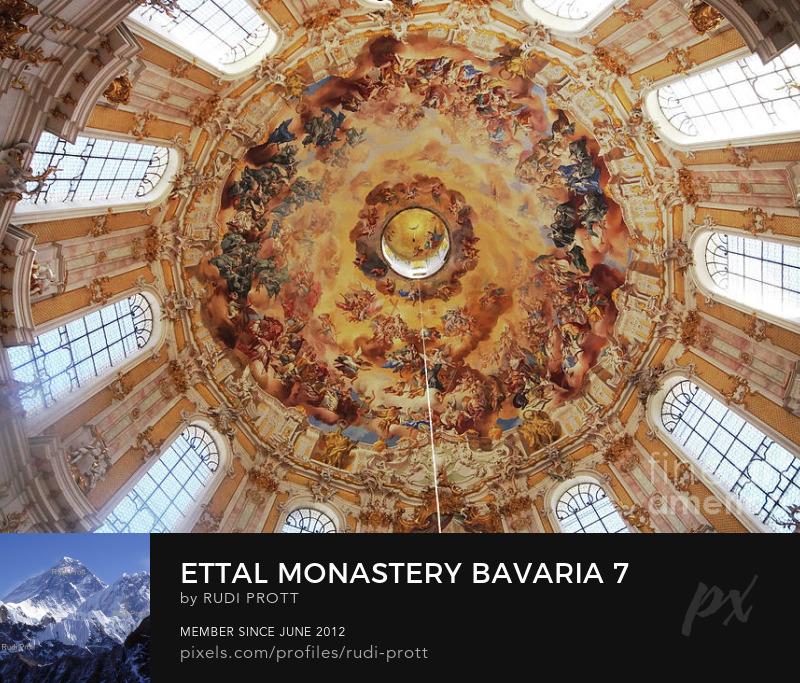 Ettal Monastery dome by Rudi Prott