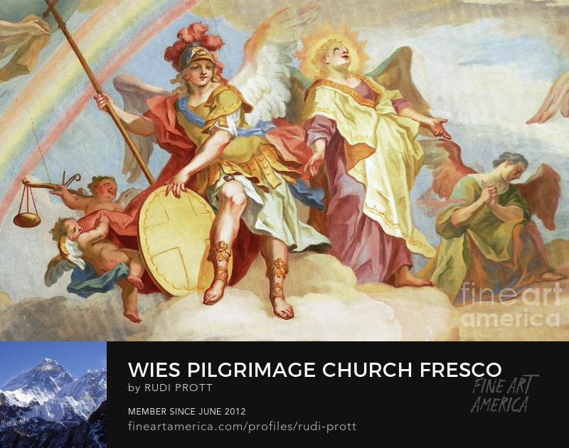 Wies Pilgrimage Church fresco by Rudi Prott
