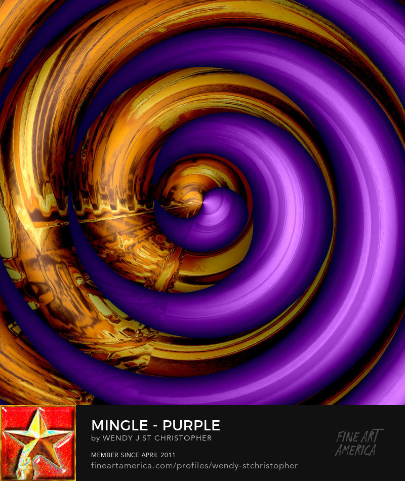 Purple abstract by Wendy J. St. Christopher