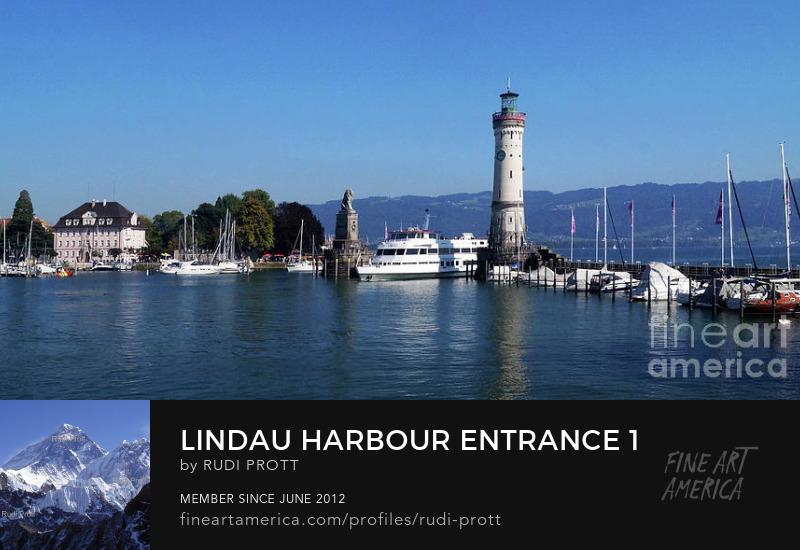 Lindau harbour by Rudi Prott